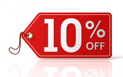 Immediately a DISCOUNT of 10%  with an advance payment.